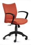 Executive Mid-Back, Harvest, Fabric Chair