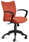 Ergonomic Fall Fabric Chair w/ Black Frame