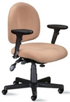 Ergonomic Lt Harvest Fabric Chair w/ Black Frame