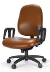 Big&Tall Swivel, Brown Leather Chair