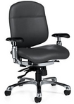 Ergonomic Black Leather Chair