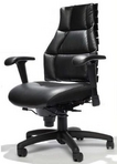 "Executive Ergonomic Black Leather Chair, w/ Full Lumbar Support - Featured in the TV Show ""Doctors"""
