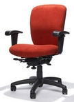 Big&Tall Swivel, Red Fabric Chair