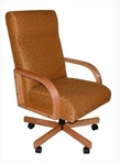 Executive Hi-Back, Maple Frame, Gold Pattern Fabric Chair