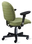 Ergonomic 2-Tone Lime Patterned Fabric Chair w/ Black Frame