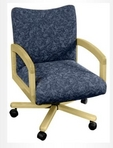 Executive Mid-Back, Maple Frame, Blue Pattern Fabric Chair