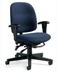 Ergonomic Blue Fabric Chair