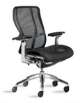 Ergonomic Black Mesh Chair w/ Chrome Frame