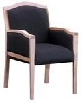 Guest Chair, Maple Frame, Black Pattern Fabric