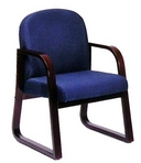 Dark Blue Fabric Reception Chair