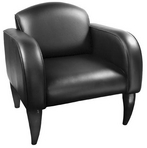 Black Leather Chair w/ Black Frame