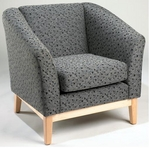 Lt Charcoal Pattern Fabric Chair w/ Maple Frame