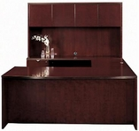 Mahogany Finish Desk with Matching Hutch & Credenza