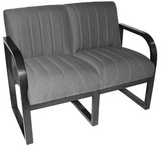 Charcoal Pattern Fabric Chair w/ Black Frame