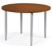 "Cherry Finish 42"" Round Table w/ Metal Legs"