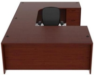 Cherry Finish U-Shape Desk
