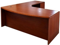 Yorkshire Cherry Finish L-Shape Desk