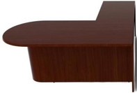 Mahogany Finish L-Shape Bullet Desk