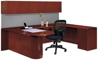 Mahogany Finish Desk with Matching Storage Unit