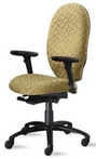Ergonomic Lt Sage Pattern  Fabric Chair w/ Black Frame