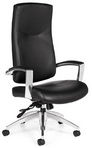 Hi-Back Executive Ergonomic Black Leather Chair