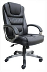 Executive Hi-Back, Black Leather Chair