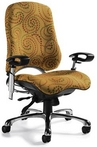Contemporary Multi-tone Ergonomic Chair w/ Chrome Frame