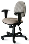 Ergonomic Low-back Chair w/ Beige Seat & 2-tone Back