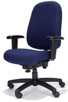 Ergonomic Blue Fabric Chair w/ Black Frame