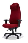 Executive Ergonomic Burgundy Fabric Chair