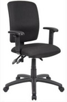 Ergonomic Black Frame/Black Fabric Chair