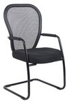 Guest Chair, Black Mesh, Mid-Back