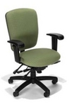 Ergonomic Patterned Lt Green Fabric Chair